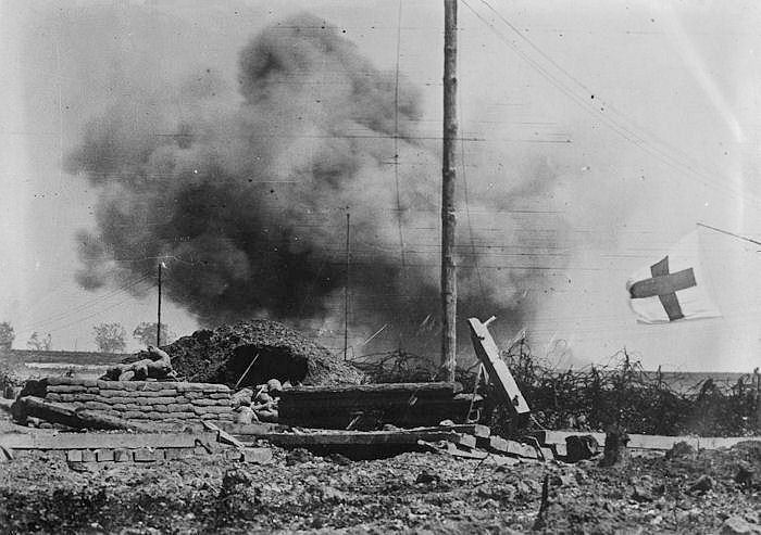 The History Place - World War I Timeline - 1918 - Artillery Shell Burst