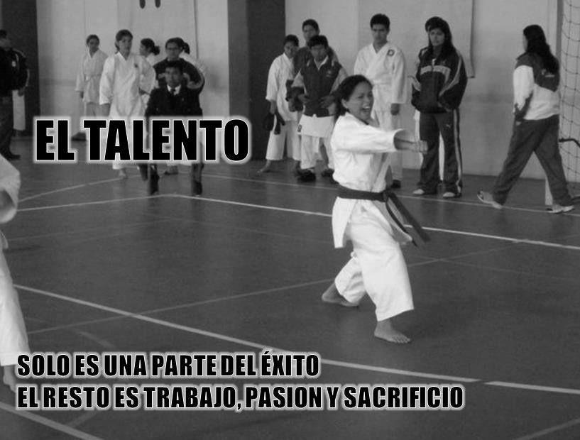 El talento solo es una parte del éxito, el resto es trabajo, pasión y sacrificio...