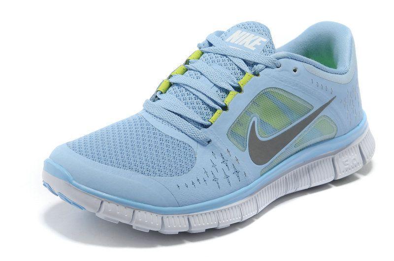 Nike Free Run+ 3 Womens Running Shoe Blue Grey  98b3aa7e19