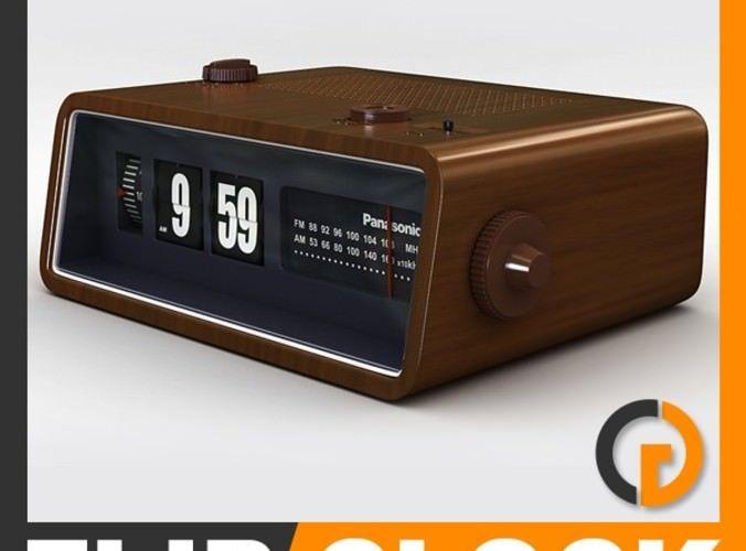 Retro Style Radio Alarm Flip Clock