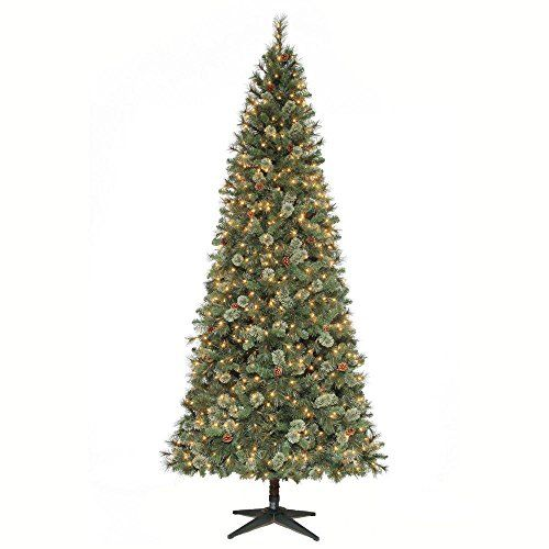 9 Ft Alexander Pine Quick Set Artificial Christmas Tree With Pinecones And Slim Artificial Christmas Trees Pine Cone Christmas Tree Artificial Christmas Tree