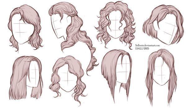 10 long hair Drawing ideas