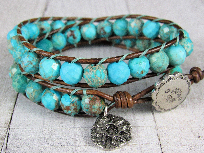 Turquoise double wrap bracelet