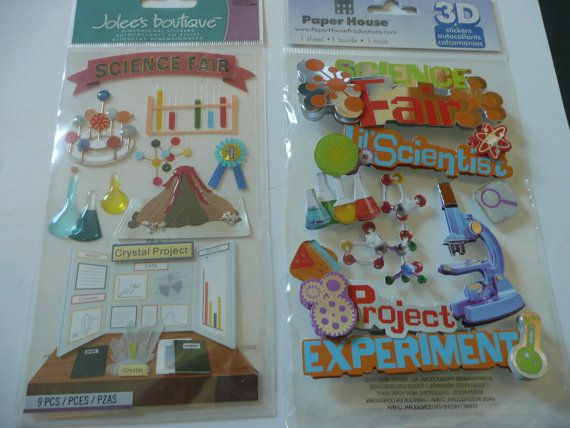 3D PAPERHOUSE SCIENCE FAIR SCHOOL SCRAP BOOKING STICKERS