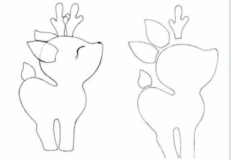 patrones de renos de navidad en fieltro | Crafts | Pinterest ...