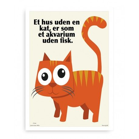citater om katte Katte plakat og citat plakat | Indretning | Pinterest citater om katte