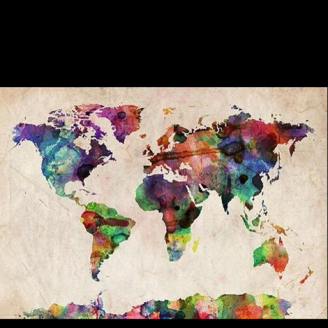 Pin by anastasia nathanson on artsy stuff pinterest artsy compare 2472 world map watercolor products at shop including world map watercolor canvas art sundance studio x world map watercolor canvas art sd gumiabroncs Gallery
