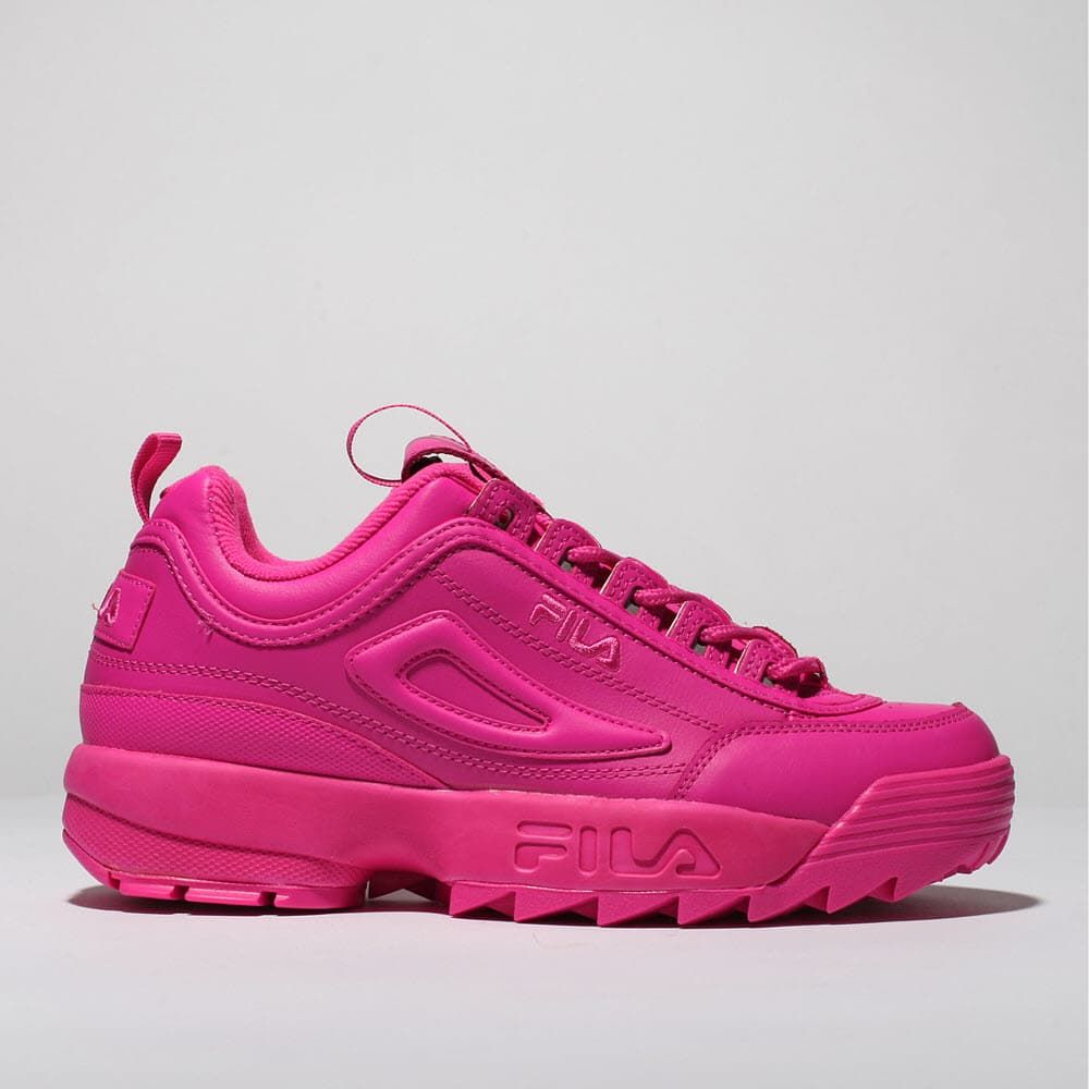 womens pink fila disruptor ii premium