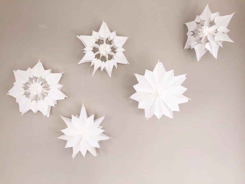 sterne aus papier sterne aus butterbrotpapier anleitung. Black Bedroom Furniture Sets. Home Design Ideas