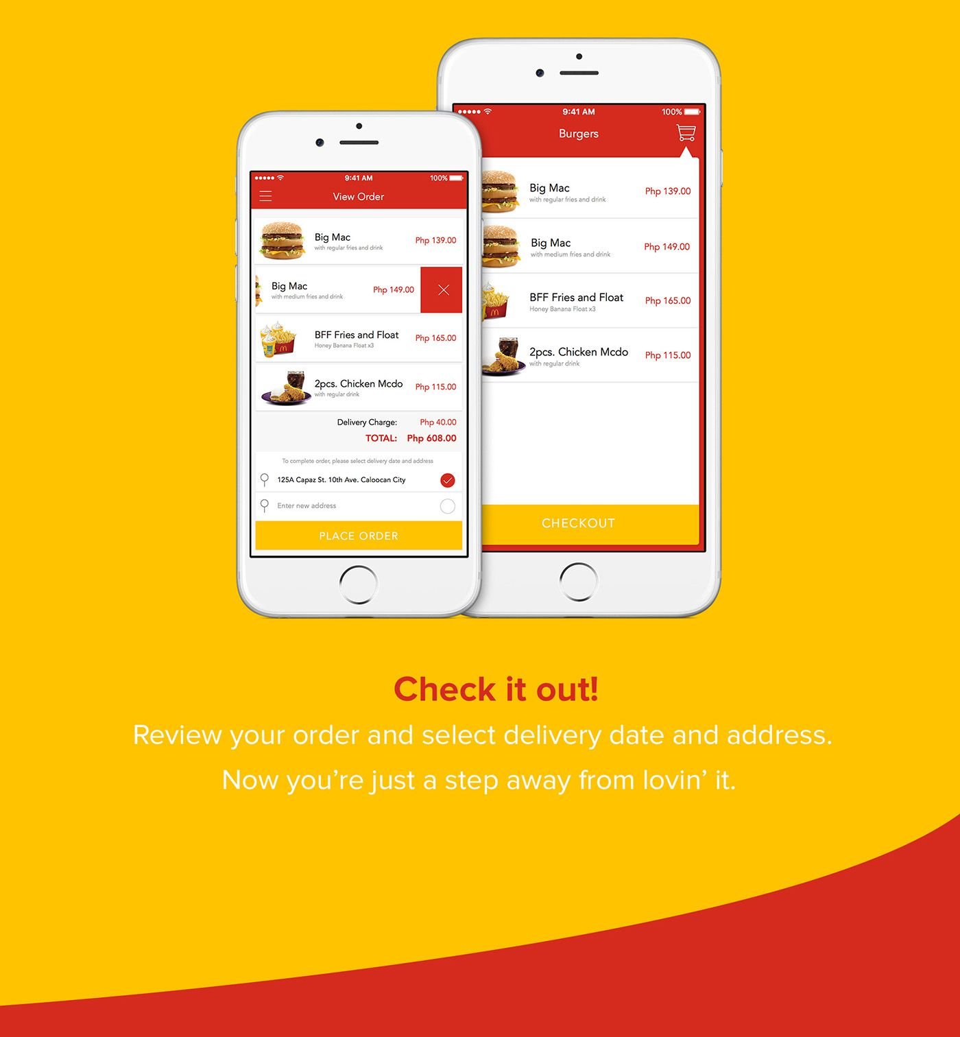 Mcdonald's Delivery App on Behance Delivery app, App