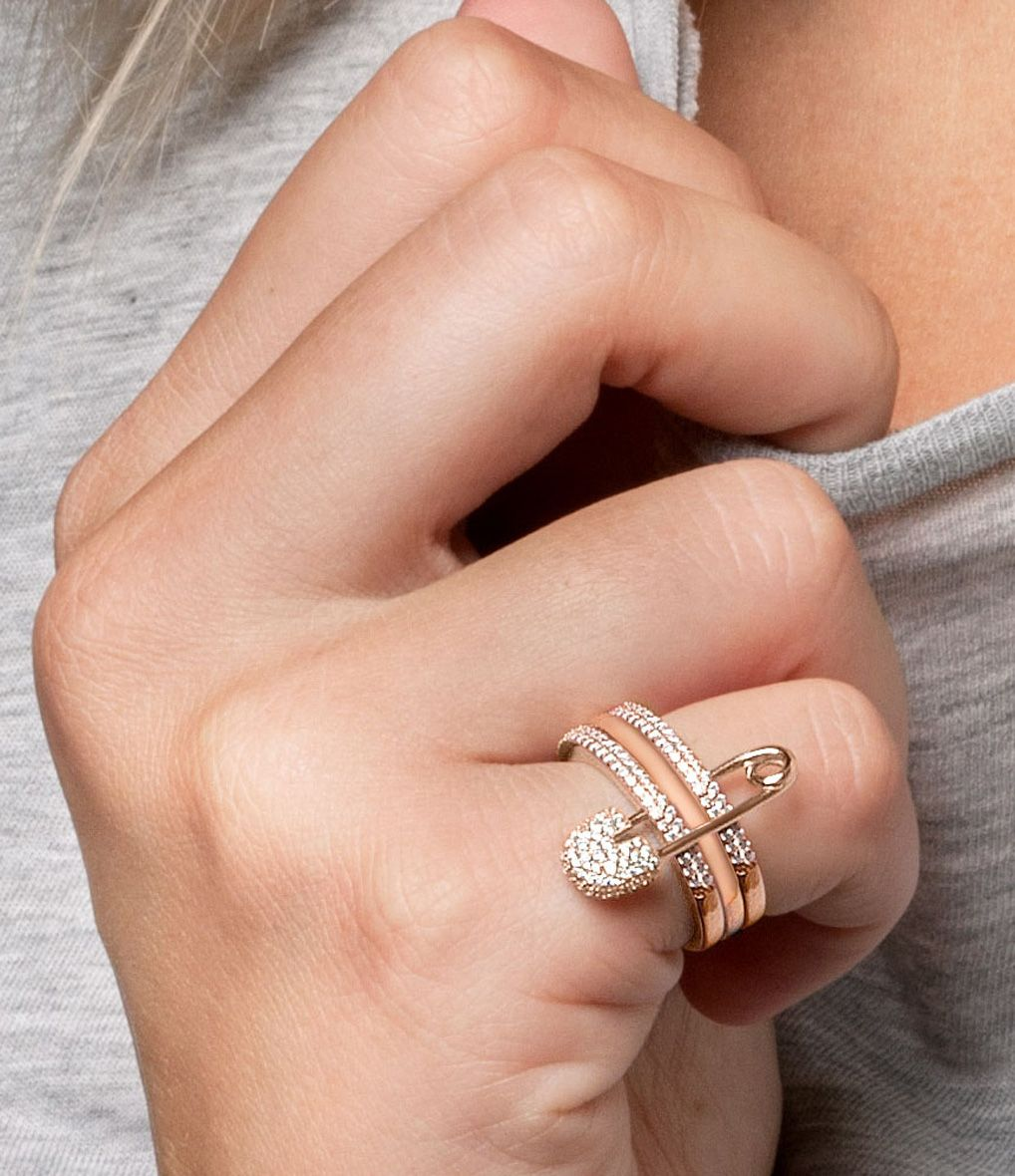 Bagues Bijoux Argent sterling 925//étoiles Pendentif Double doigt Bague pour femme fille