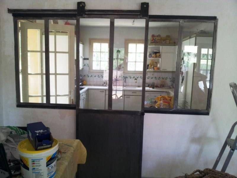 separation cuisine en fer forgé et tube a ail, avec porte ...