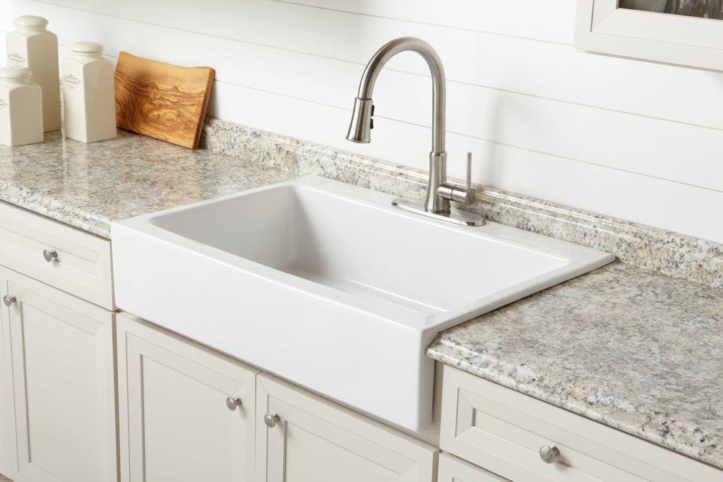 36++ White farmhouse drop in sink type