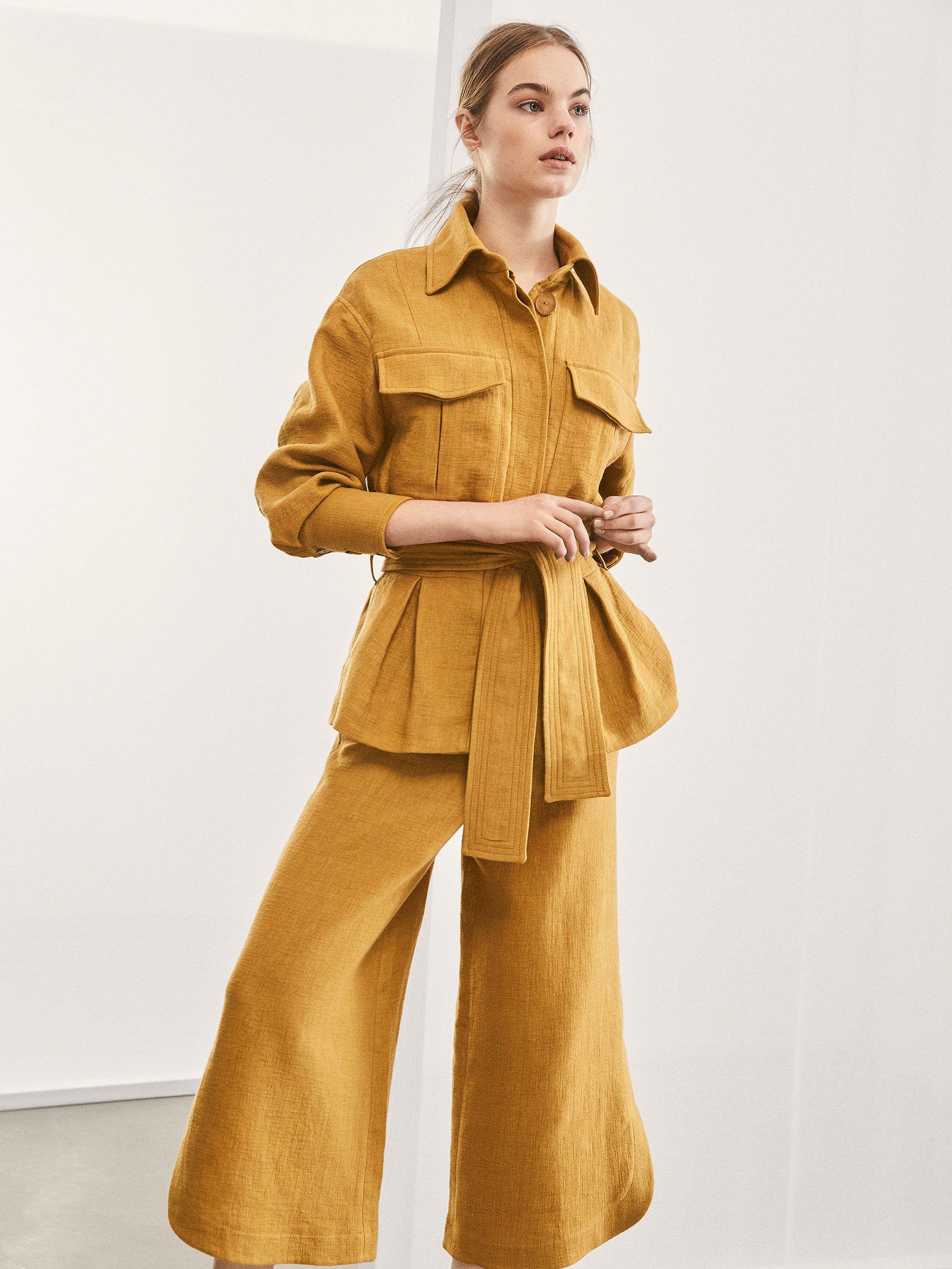 Fall Winter 2017 Women S Limited Edition Linen Safari Jacket At Massimo Dutti Safari Jacket Street Style Denim Fashion Safari Jacket