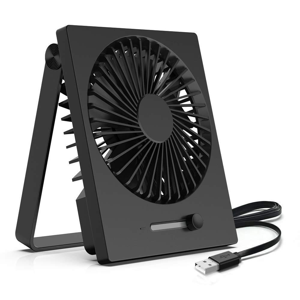 Amazon Com Kopbeau Desk Fan Personal Usb Small Cooling Folding Table Fan Stepless Speeds Slim Design 180