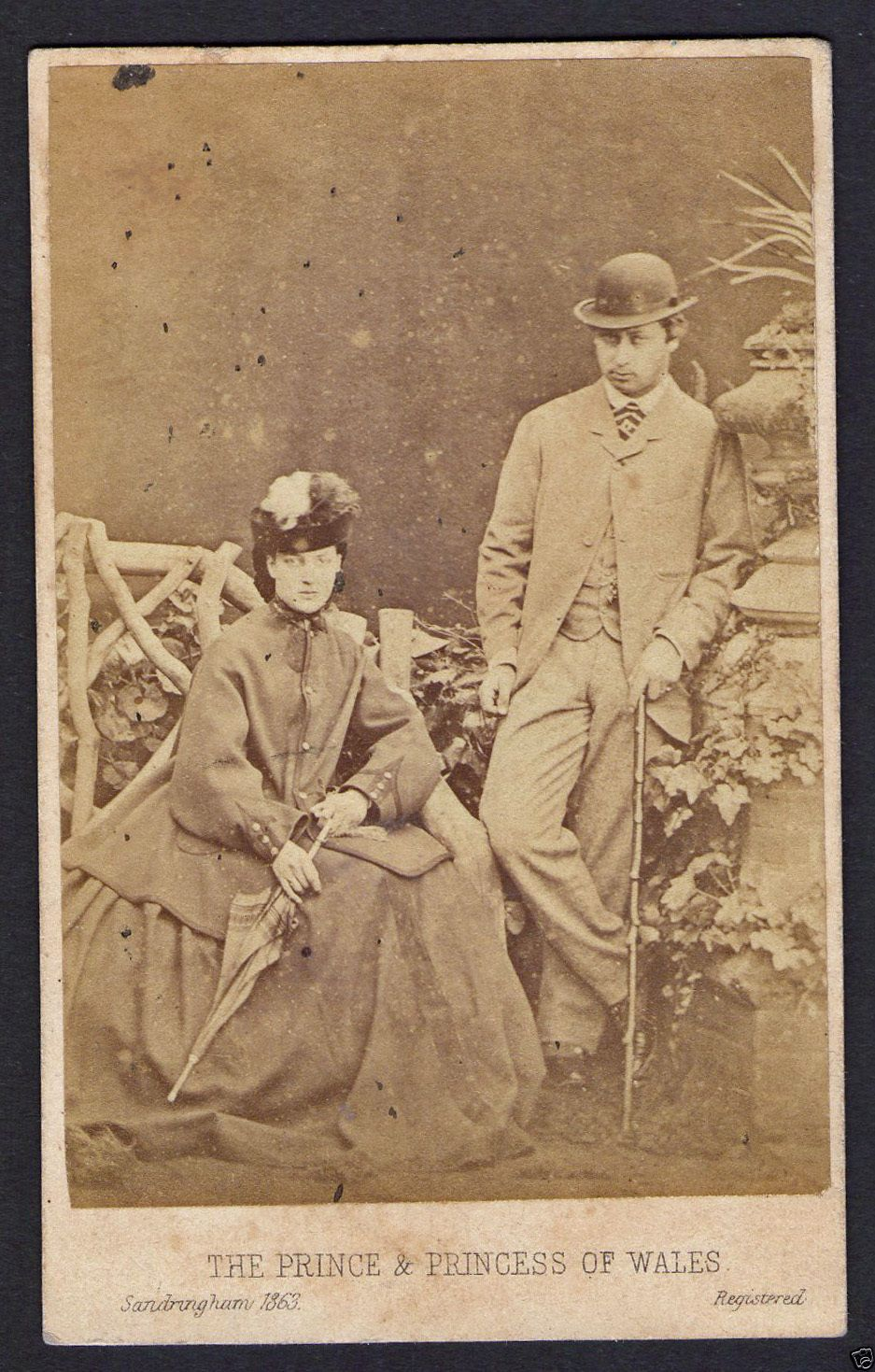 Cabinet Card of the Prince and Princess of Wales