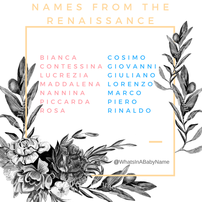 Baby Names From The Italian Renaissance