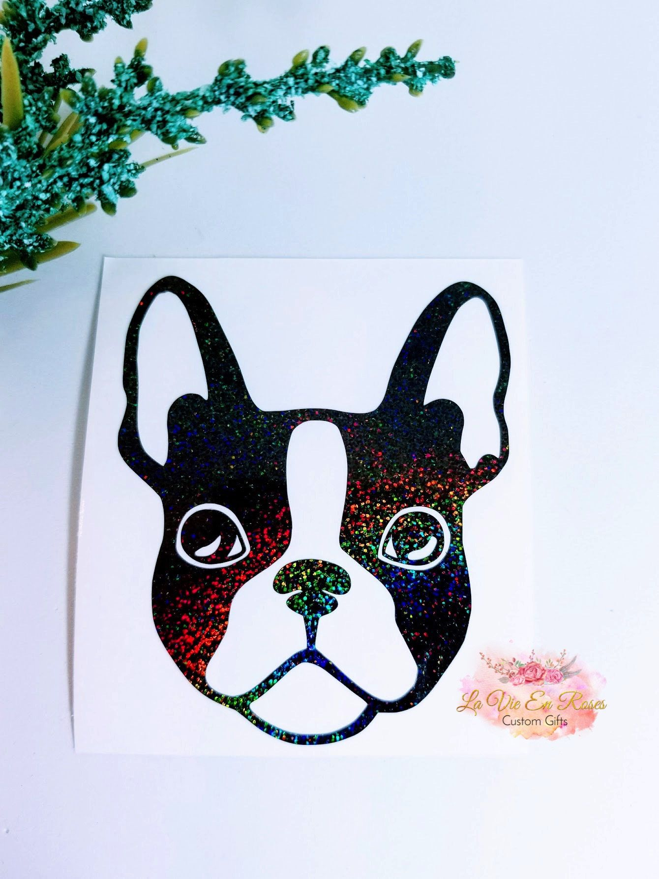 Boston Terrier Decal French Bulldog Decal Cup Decal Instant Etsy Cup Decal Boston Terrier Puppy Paw Prints