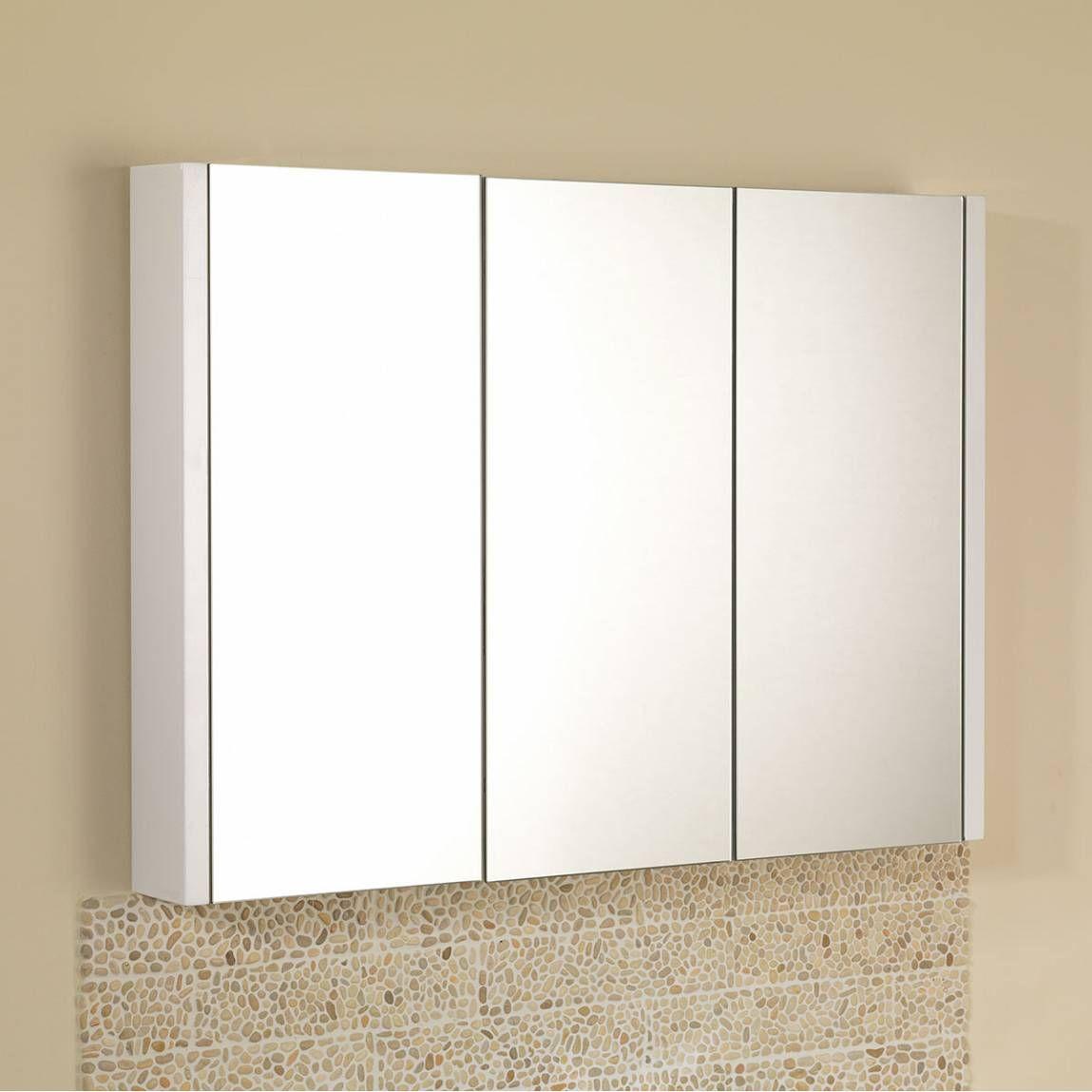 Odessa White 3 Door Mirror Cabinet | Heimilið mitt | Pinterest ...