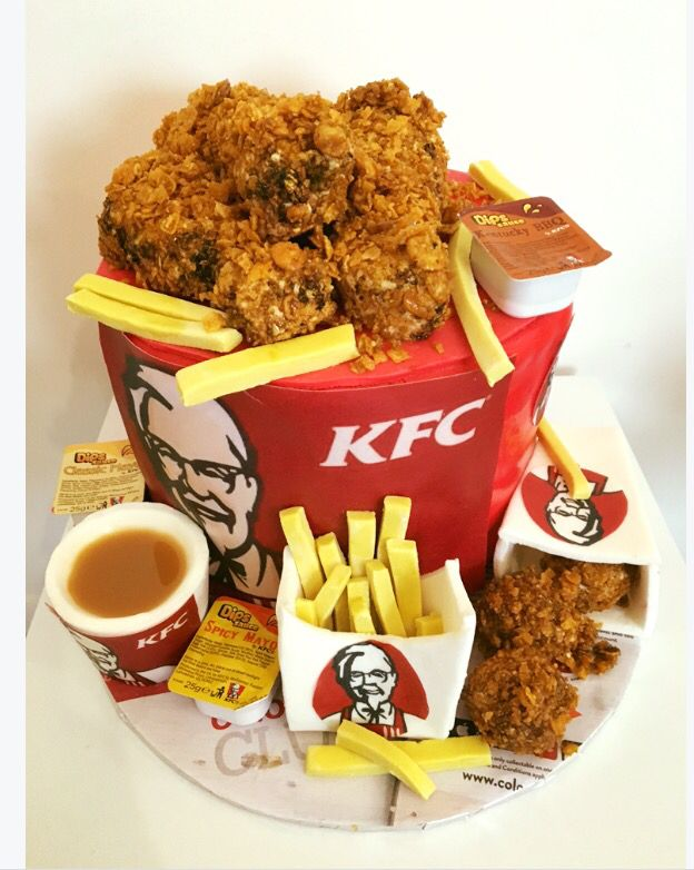 Kfc cake : looks like a real bargain bucket! | Kfc | Kfc