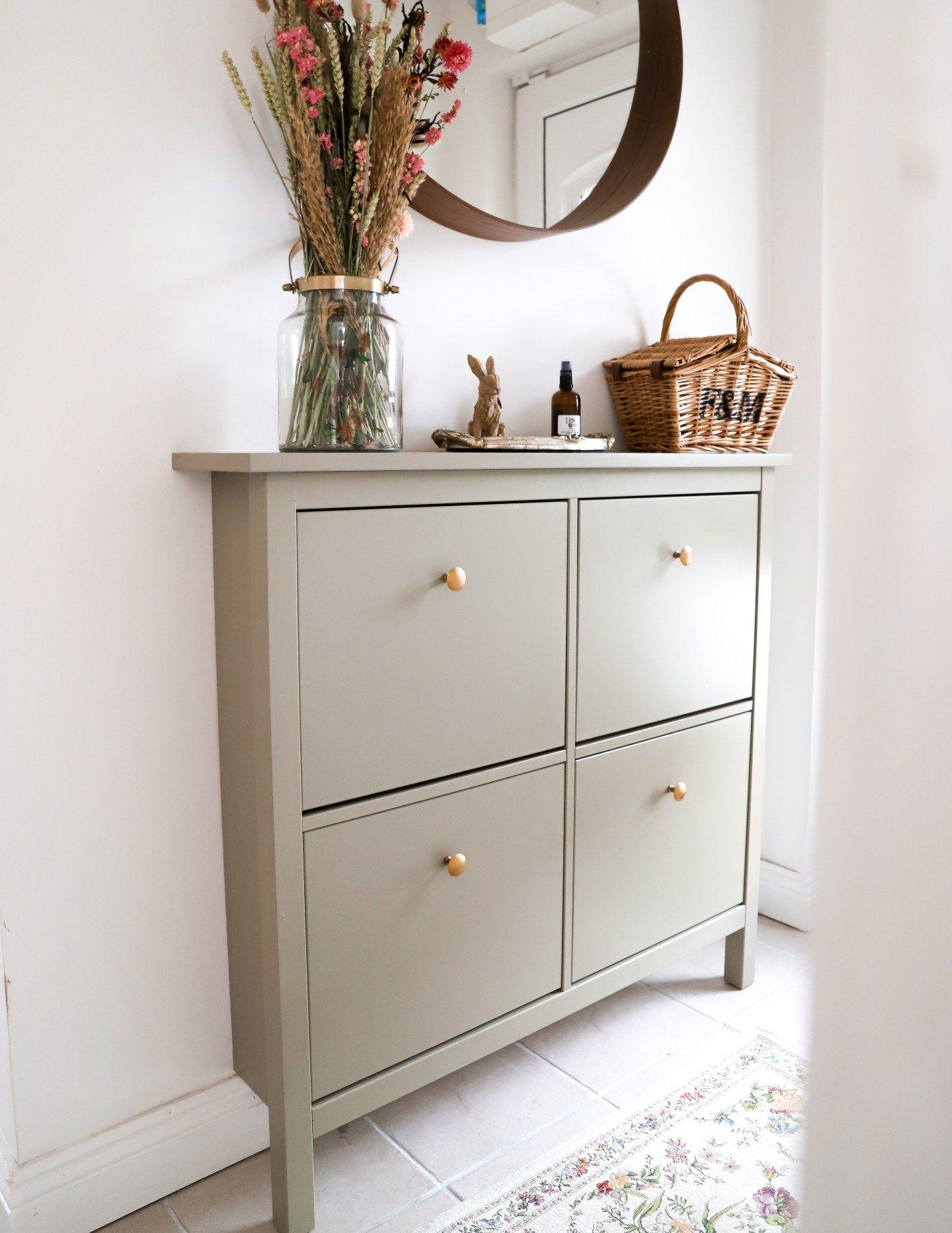 Boho Ikea Hemnes Shoe Cabinet Makeover