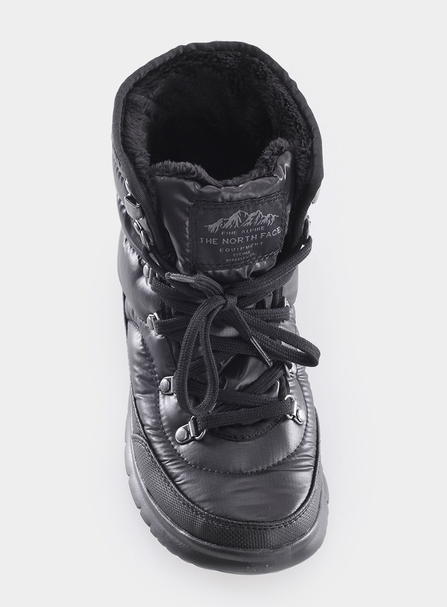Buty The North Face Thermoball Lace Ii Lady Shiny Tnf Black Iron Gate Grey The North Face Black Iron Boots