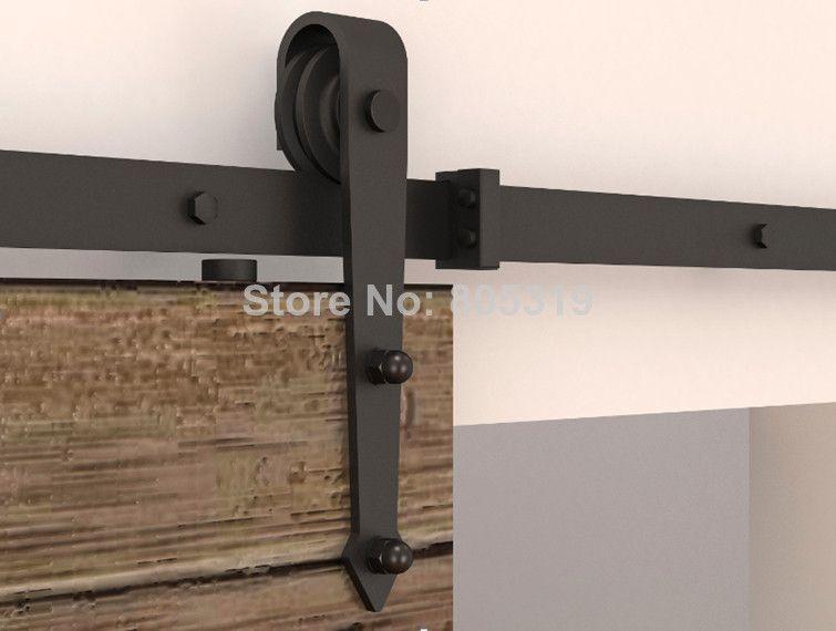 Schwarz Rustikal Schiebeturen Scheunentor Hardware Laufschiene 1