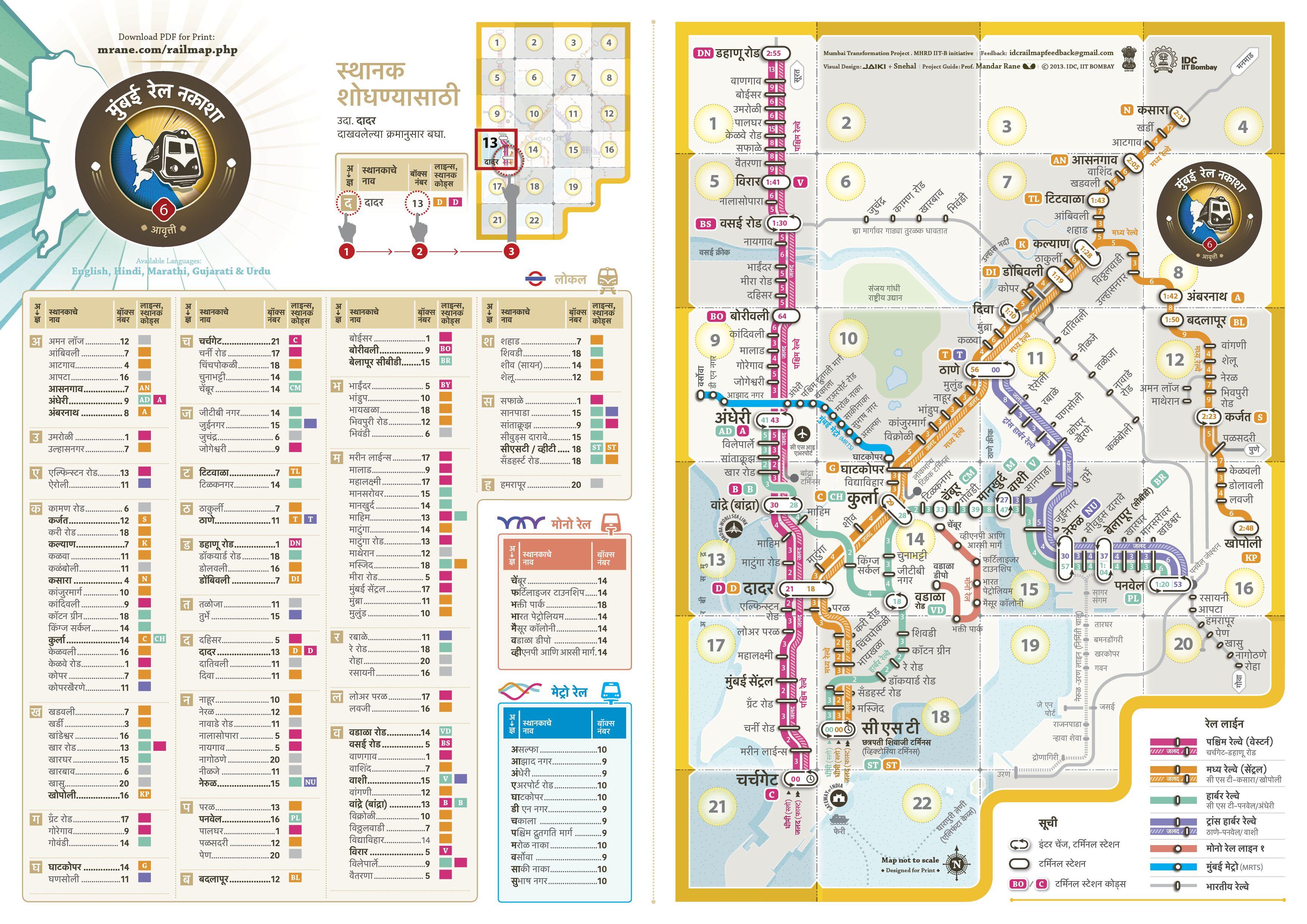 Mumbai Rail Map A Marathi Mumbai Local Pinterest Maps - Railway map usa 1890