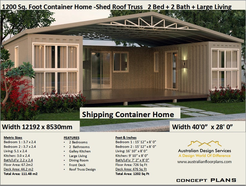 Best Selling Shipping Container House Plans 1200 Sq Foot Etsy In 2020 Shipping Container House Plans Container House Plans Container House Design
