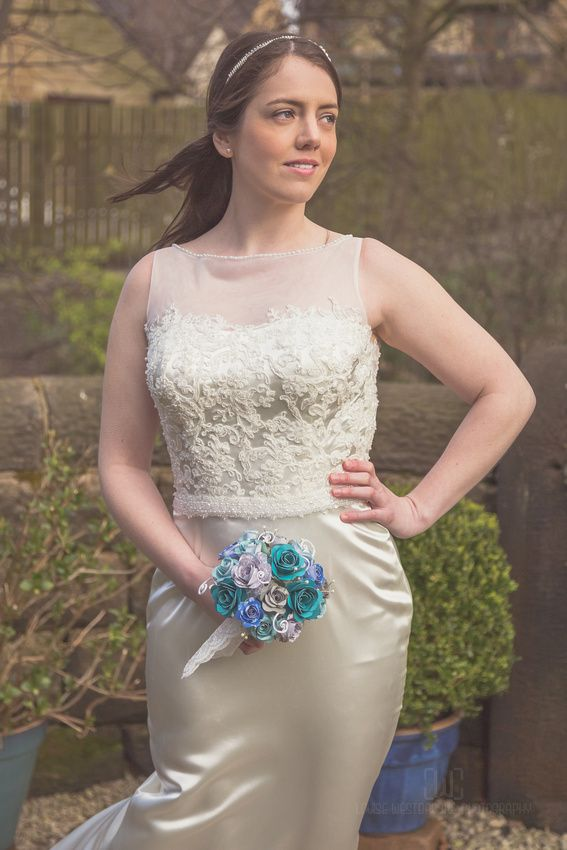 Bridal Wear Shoot Featuring Custom Gowns By Posh Frocks Leeds And Hand Made Paper Bouquets Jackdaw Decor