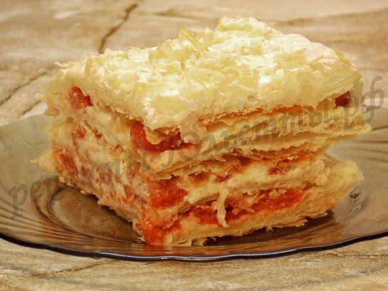 торт наполеон рецепт с фото с слоеным тестом