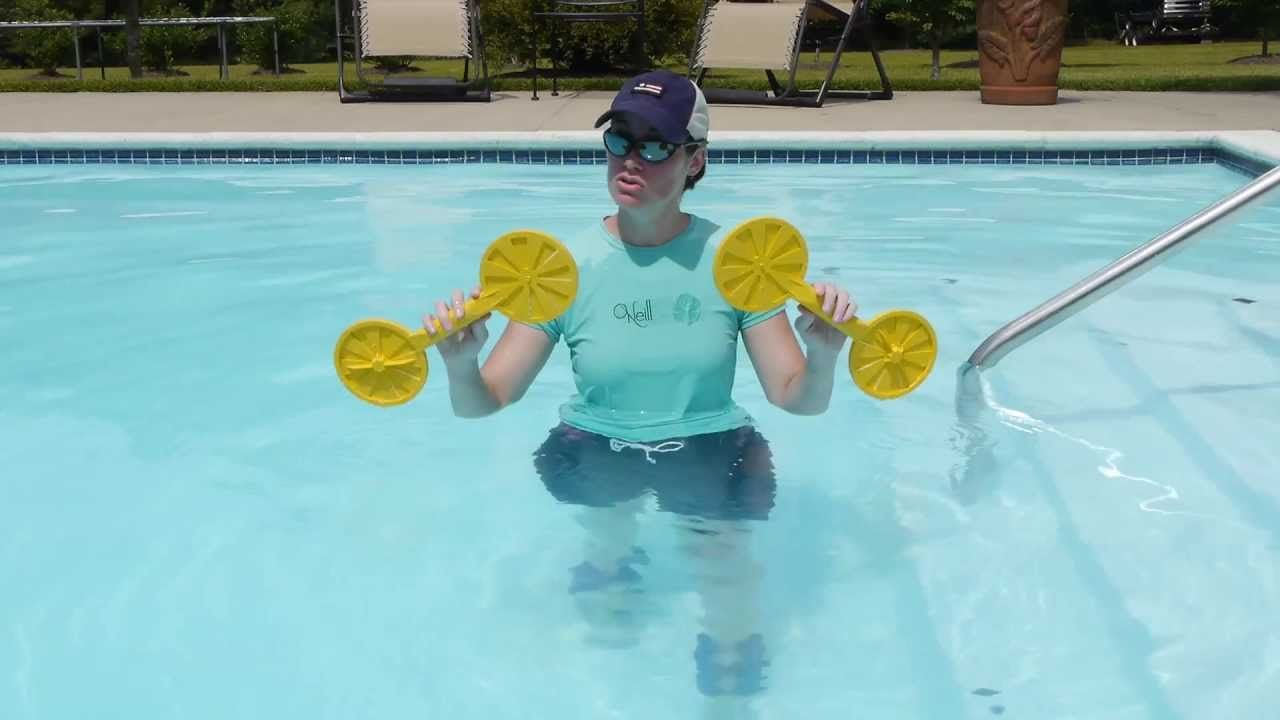 Core Exercises In A Pool With Toys Aquatic Therapy Doctor Jo Shows You Some Core Exercises You Can Do In A Poo Aquatic Therapy Pool Workout Swimming Workout