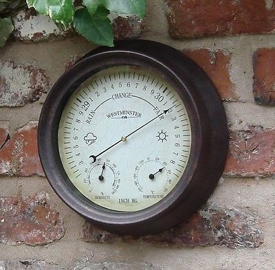 Garden Outdoor Thermometer Hygrometer Barometer 150mm 6 Inch View More