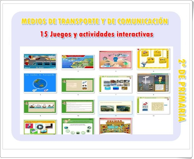 Medios De Transporte Y De Comunicación 15 Juegos Y Actividades De 2º De Primaria Nivel De Educación Actividades Interactivas Actividades