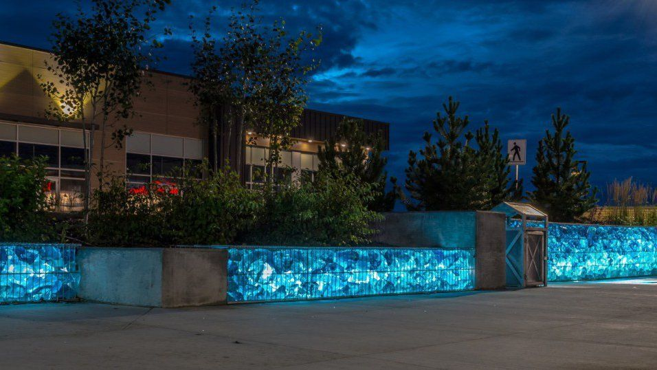Image result for lighted gabion wall design gabion wall images