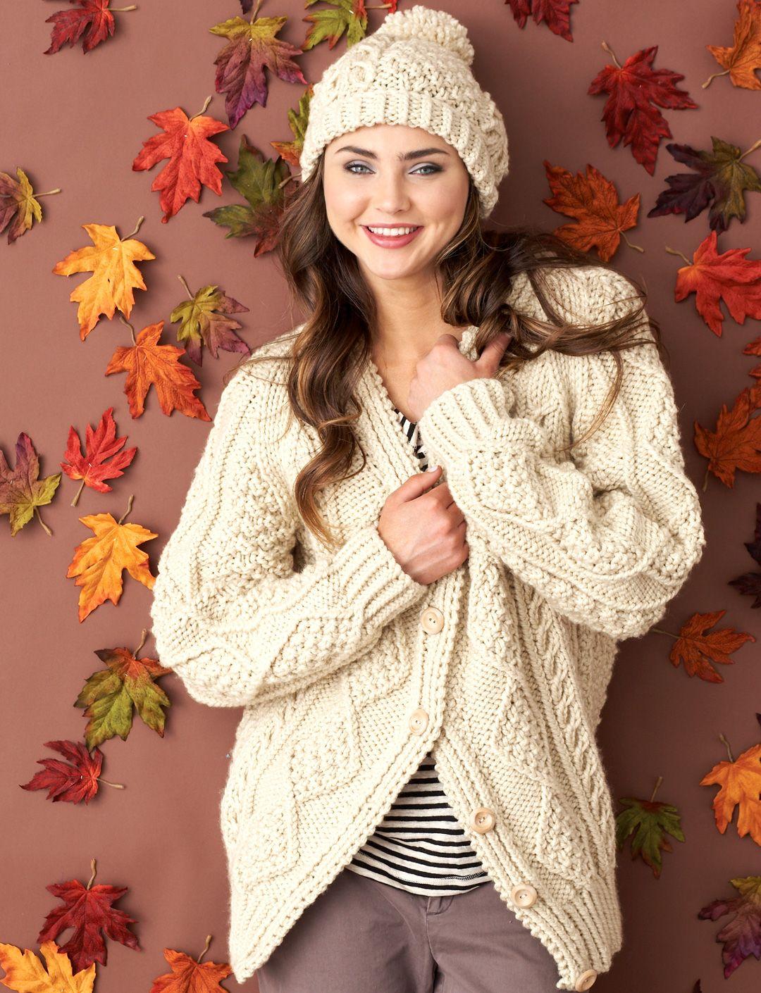 Aran Cables Set   Aran knitting patterns, Free aran ...