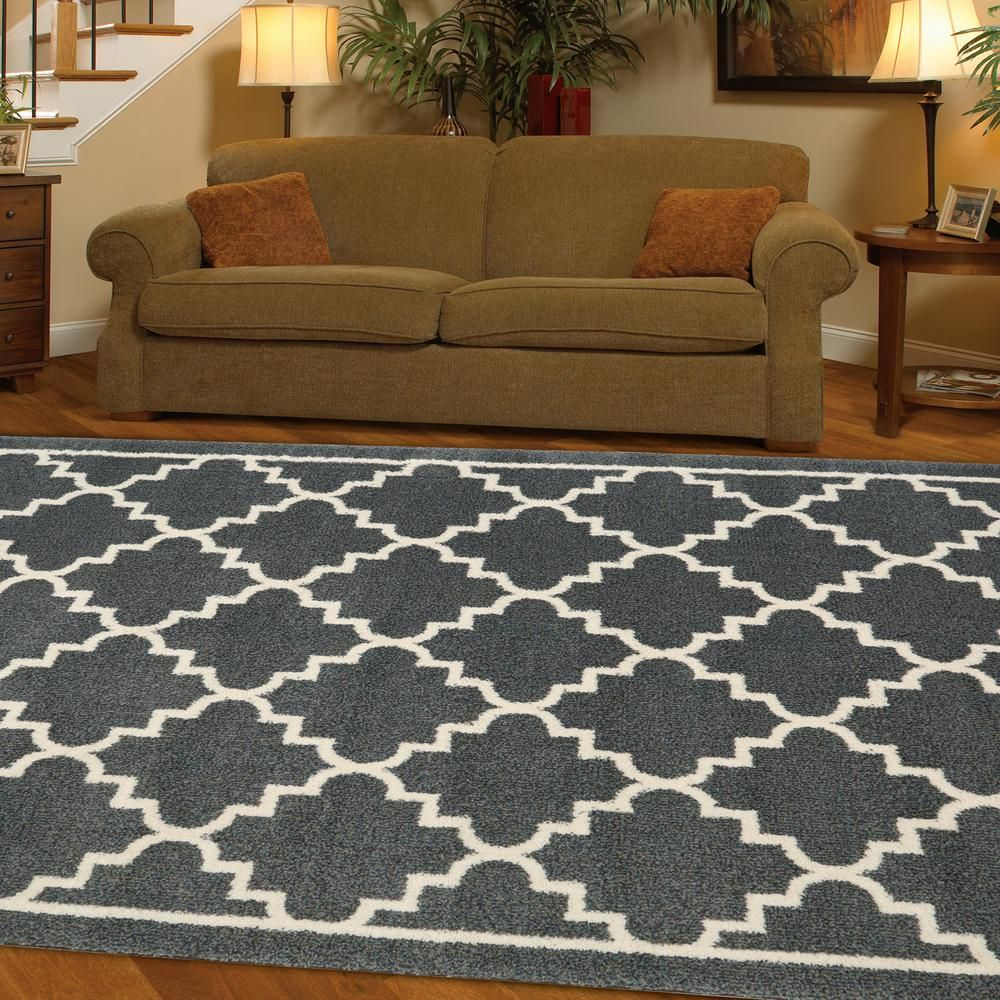 Home Decorators Collection Winslow Dark Slate 8 Ft X 10 Area Rug 492809 The Depot