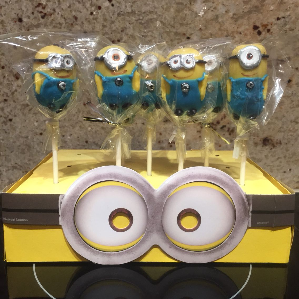 Minion Cake Pops And Homemade Cake Pop Stand Minion Cake Pops
