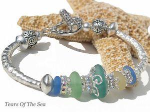 Summer Sea Glass Bracelet