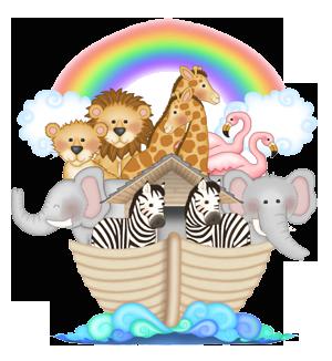 Details about NOAHS ARK ANIMALS BABY NURSERY KIDS ROOM WALL ART ...