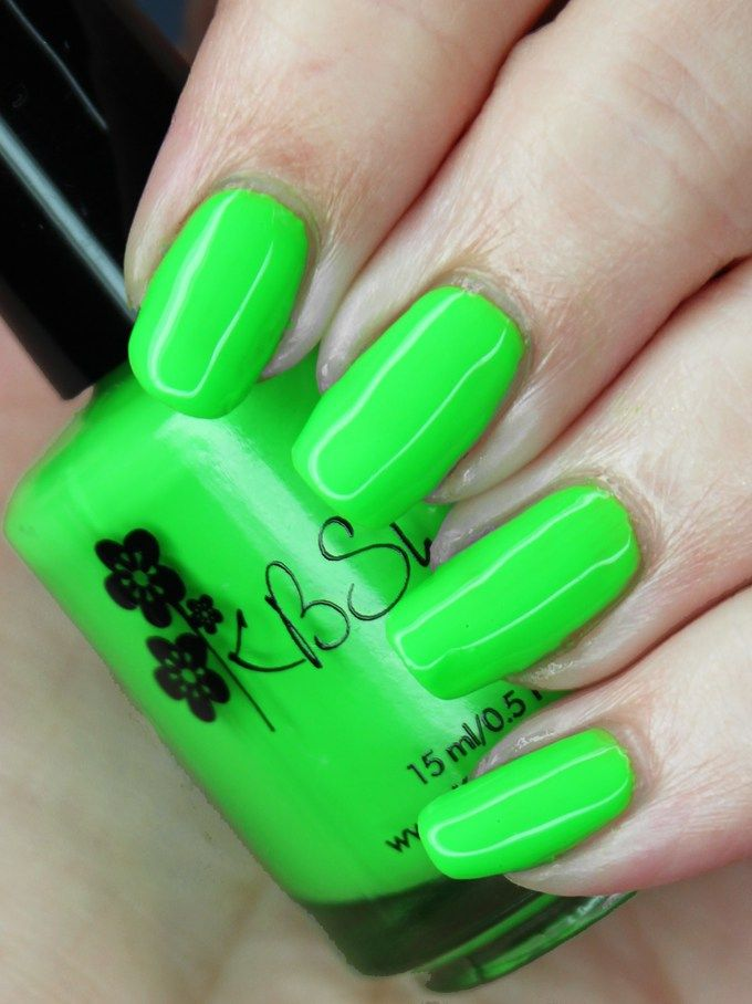 KBShimmer Nail Polish in the shade Race Against Slime Swatches ...