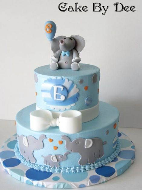 Elephant blue cake Cakes Pinterest Blue cakes Cake and Custom