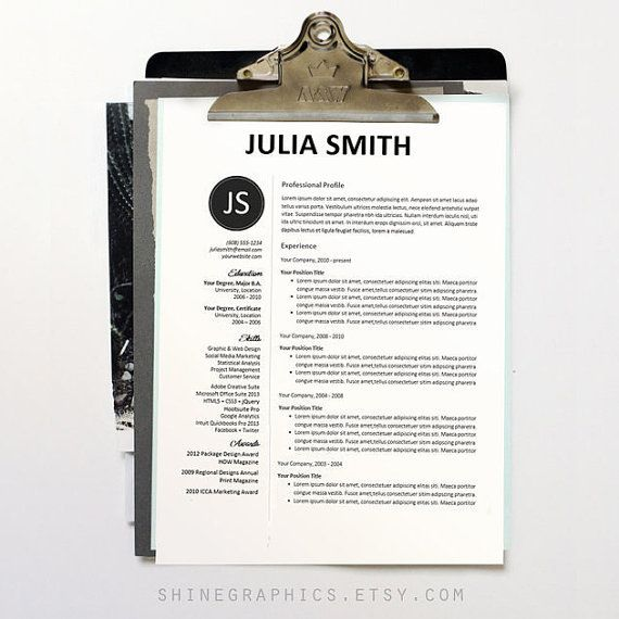 Resume Template Professional Resume Design Free by ShineGraphics - fashion design resume template
