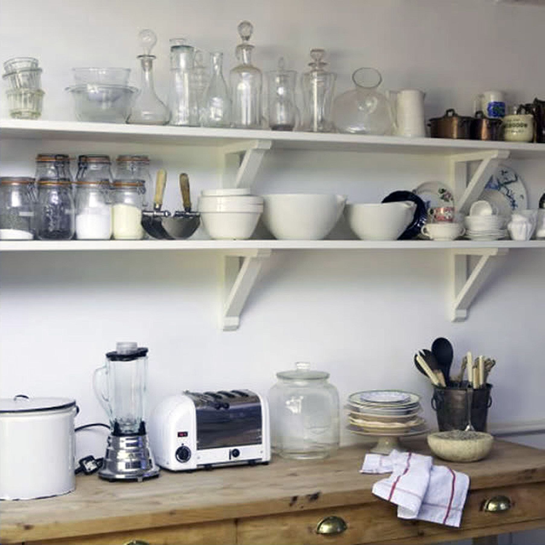 kitchen small white open shelves kitchen ideas with wooden on kitchen shelves instead of cabinets id=46098