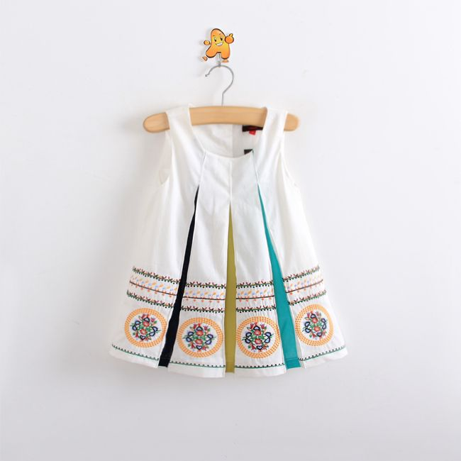 Wholesale 2014 New summer children clothing,baby girls national trend  casual dress,kid cotton