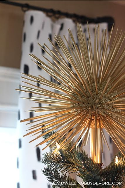 DIY starburst tree topper, a funky and fun addition to you Christmas tree! - DIY Starburst Tree Topper, A Funky And Fun Addition To You Christmas