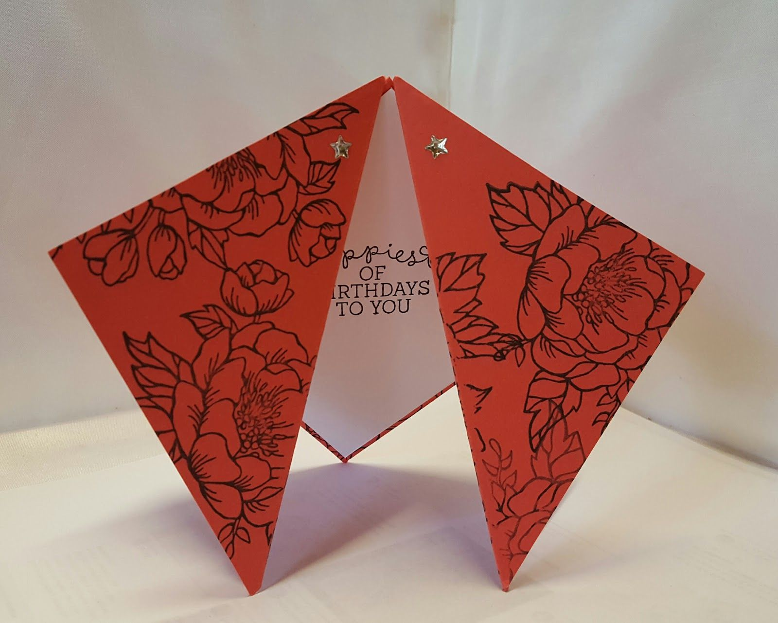 Today I Am Sharing With You The Basic Tutorial On How To Create One Of These Double Diamond Cards The Other Day I Shared Wi Fancy Fold Cards Fancy Folds Cards