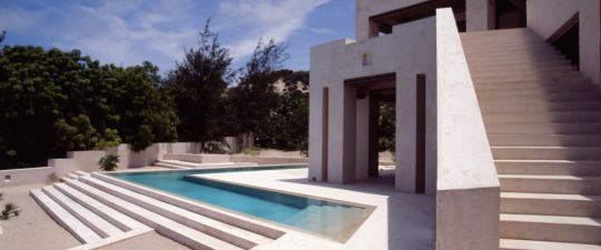 Ultra Modern Estate In Lamu Kenya Africa East Contemporary Architecture Sleek African Swimming Pool Stone Masonry
