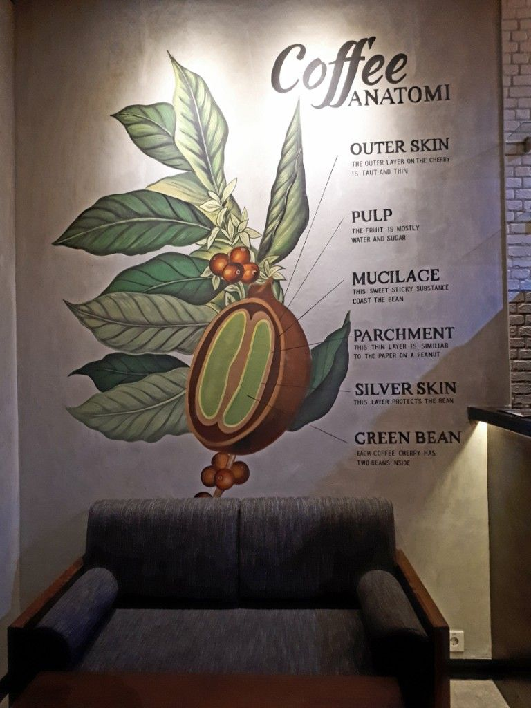 Anatomi coffee murals mural by imural coffee mural pinterest