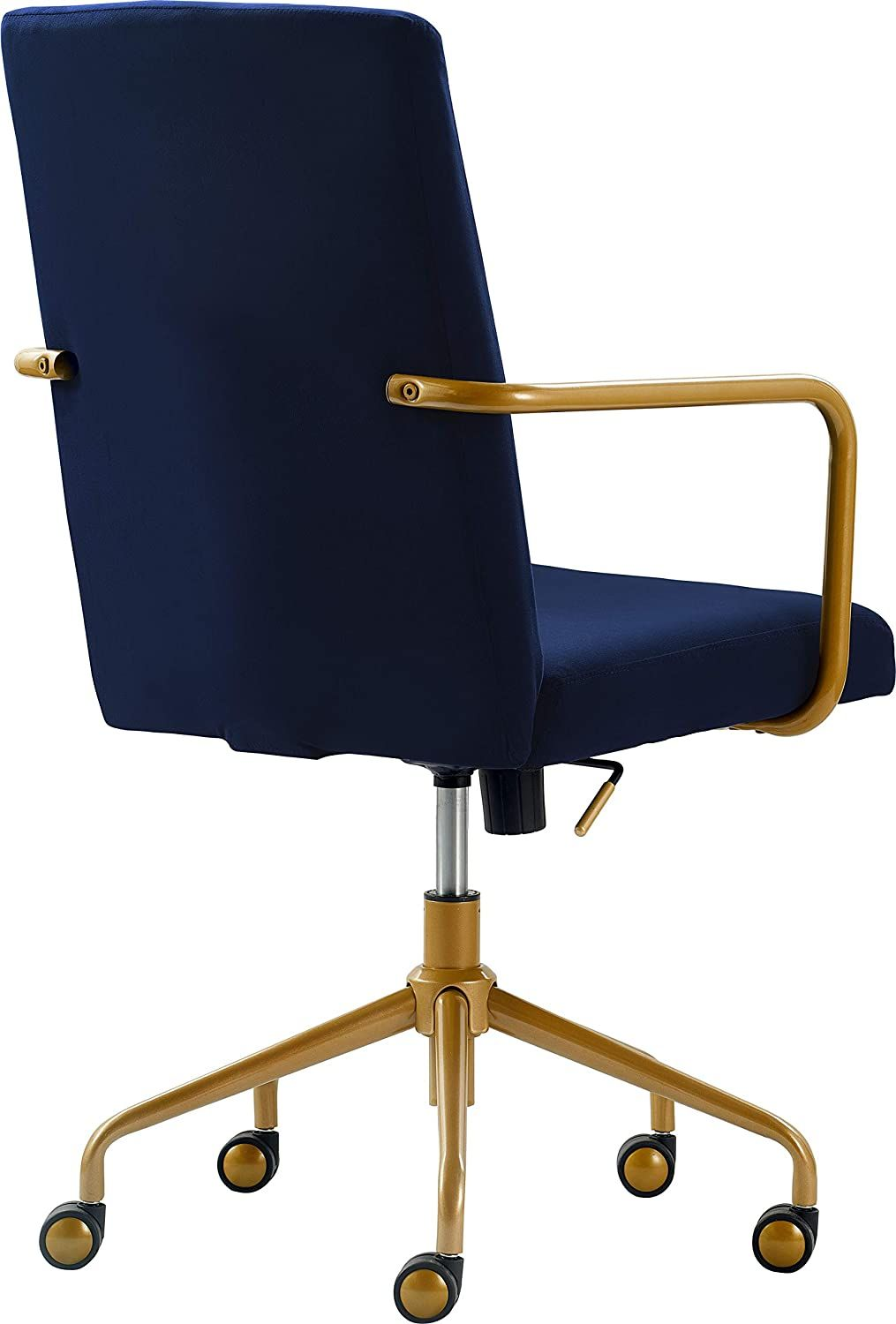 Giselle Modern Home Office Desk Chair High Back Adjustable Computer Chair With Gold Arms Base And In 2021 Modern Home Office Desk Home Office Chairs Office Chair
